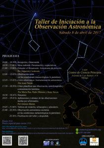 Taller de Iniciación a la Observación Astronómica | Agrupación Astronómica de Málaga - Sirio